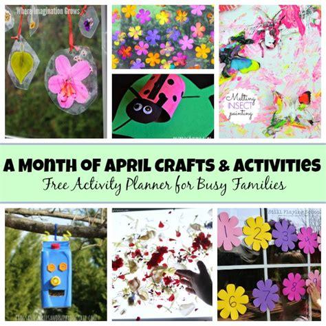 30 preschool crafts amp activities for april where 548 | 30 days April preschool crafts activities spring 1