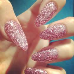 Pink almond nail designs beautiful art for your shaped nails
