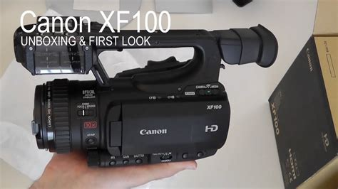 Canon Xf100 by Canon Xf100 Hd Unboxing Look