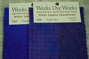 Weeks Dye Works Wool Fabric Hand Dyed