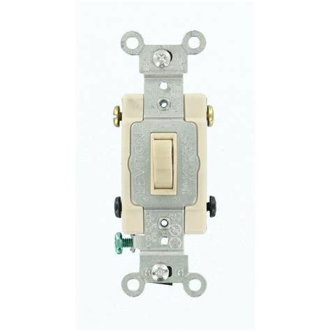 Leviton Amp Single Pole Toggle Framed Way Switch