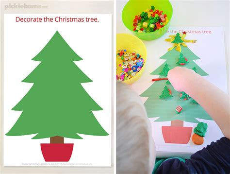 decorate your own christmas tree worksheet free printable play dough mats picklebums