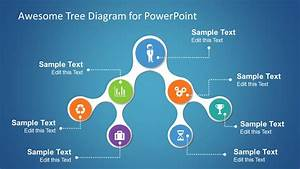 Awesome Tree Diagram Template For Powerpoint