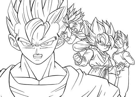 Inspirador Dibujos De Para Colorear De Dragon Ball Z