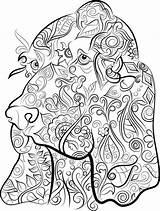 Basset sketch template