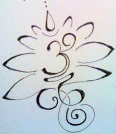 Om Lotus Tattoo Design