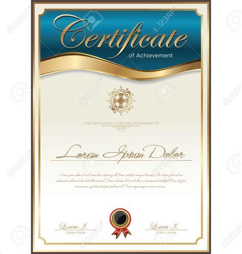 diploma word template certificate template print stock vector diploma