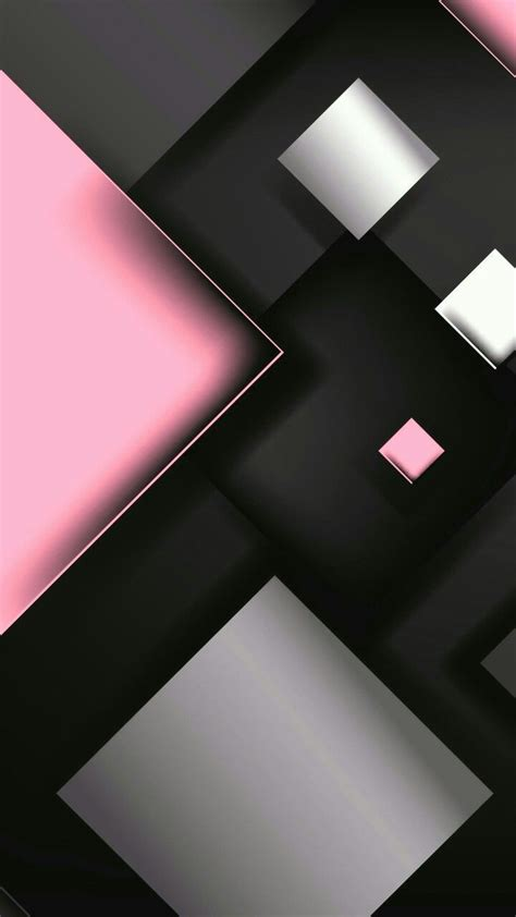 Pink White And Black Geometric Wallpaper Abstract And