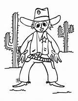 Coloring Cowboy Cow Boy Dessin Printable Western Halo Coloriage Para Country sketch template
