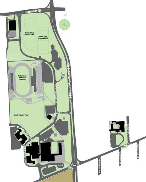 west campus queens university campus map