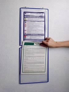 Porte Document Mural : porte affiches mural sous forme de poches plastiques a4 modulables seton fr ~ Teatrodelosmanantiales.com Idées de Décoration
