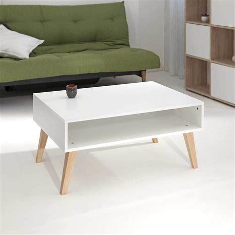 table blanche cuisine table basse pieds inclinés eléonor pieds bois blanc