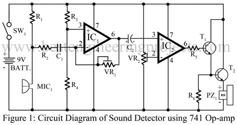 Sound Detector Circuit Using Amp Engineering Projects