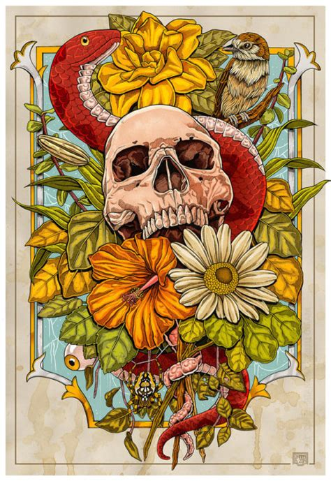 Flower Skull Drawing Tumblr