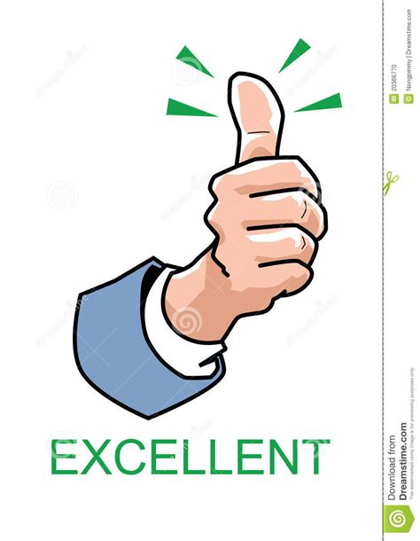 Thumbs Up  Excellent Stock Photo  Image 20366770