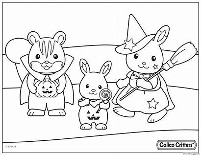 Coloring Pages Calico Critters Halloween Costumes Printable