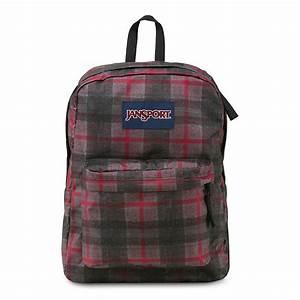 JanSport SuperBreak School Backpack - RED TAPE KNIT PLAID ...