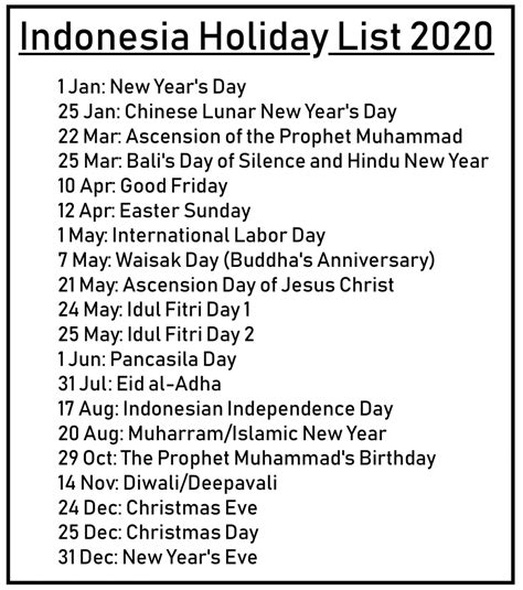 printable   indonesia calendar