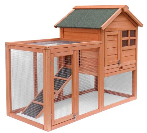 pet rabbit hutch merax wooden chicken coop pet house rabbit wood hutch