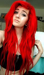 Bright Red Dyed Hair A Ssts Pinterest