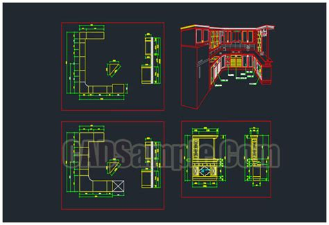 Cabinet Autocad Blocks by Kitchen Cabinet Cad Blocks Dwg 187 Cadsle