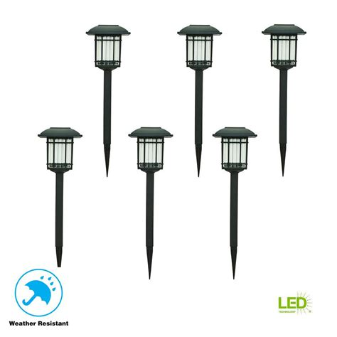 hampton bay solar black outdoor integrated led