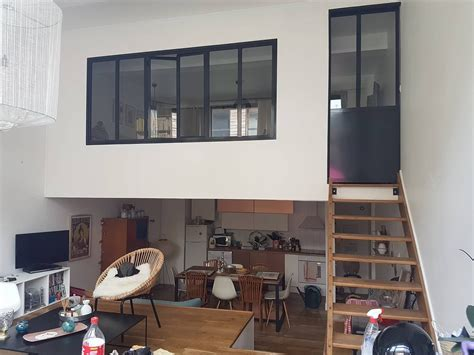 la mezzanine transformee en piece fermee loft style