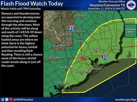 Houston, sep 21 (ians) the us national weather service has issued a flash flood watch for the houston area in texas until through tuesday as tropical storm beta continued moving towards the gulf coast. Houston under flash flood watch through 7 p.m.