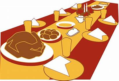 Banquet Feast Thanksgiving Clipart Dinner Clip Cliparts