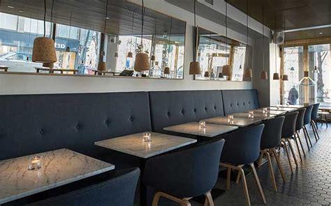 diez ideas  decorar restaurantes  bancos corridos