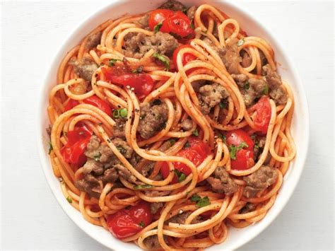 cuisine easy one pot spaghetti with sausage recipe food