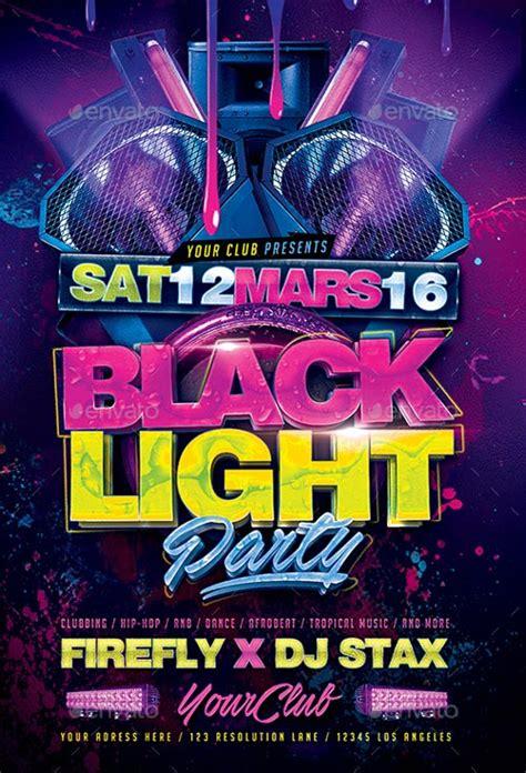 black light party flyer template  photoshop