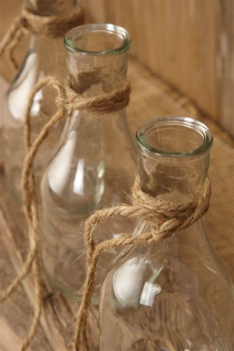 hanging glass bottle vase