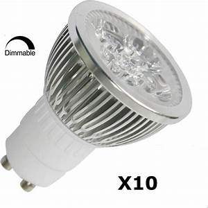 Dimmbare Led Gu10 : 10pcs pack dimmable gu10 4w 3200k led spot light 45 view angle 50w equivalent ebay ~ A.2002-acura-tl-radio.info Haus und Dekorationen