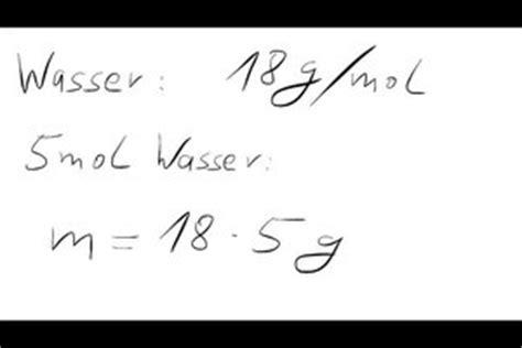 mol berechnen formel molares volumen wikipedia prof