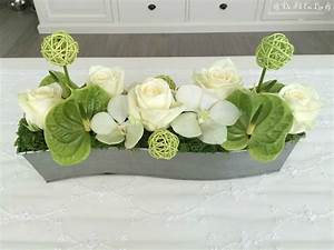Achat Deco Mariage : dfel compo florale roses avalanche anthurium vert orchid es et mousse pinteres ~ Teatrodelosmanantiales.com Idées de Décoration