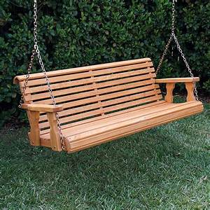 Amish Heavy Duty 800 Lb Roll Back Treated Porch Swing