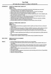 medical laboratory assistant resume samples velvet jobs With lab assistant resume