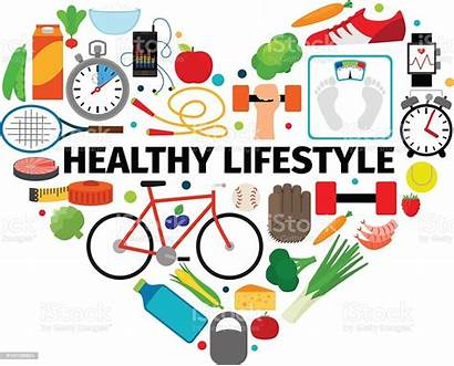 Healthy Lifestyle Heart Emblem Vector Illustration Scale