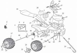 Power Wheels Batman Trailrider Parts