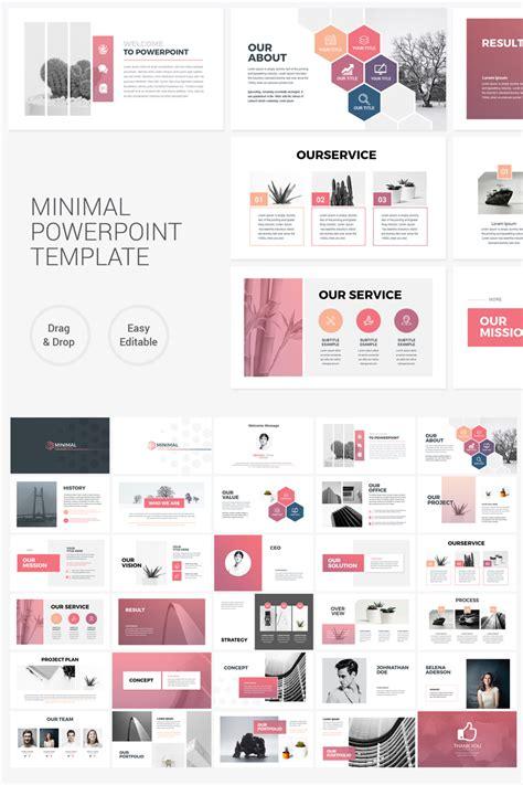 clean minimal  powerpoint template