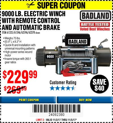 Harbor freight 9000 pound winch coupon