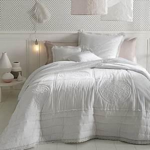 Dessus De Lit Blanc : une chambre cocooning blanche avec couette ~ Teatrodelosmanantiales.com Idées de Décoration