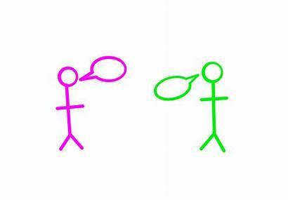 Communication Stick Figure Teentalk