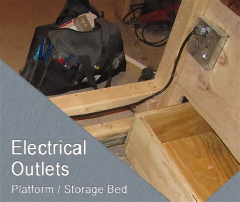 bed frame electrical adding outlets