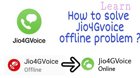 jio4gvoice offline problem solved