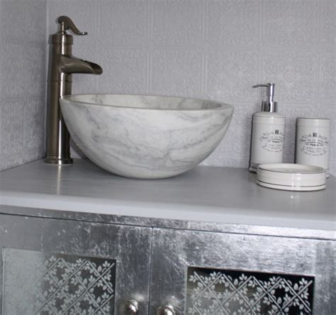 small bathroom vessel sinks small vessel sink bowl honed white marble contemporary