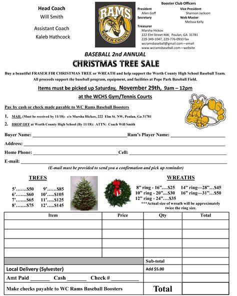 baseball 2nd annual christmas tree sale the sylvester local