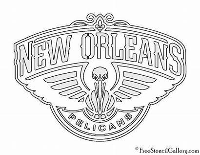 Pelicans Nba Stencil Orlean