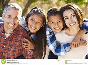 Portrait Of Hispanic Family In Countryside Stock Images ...
